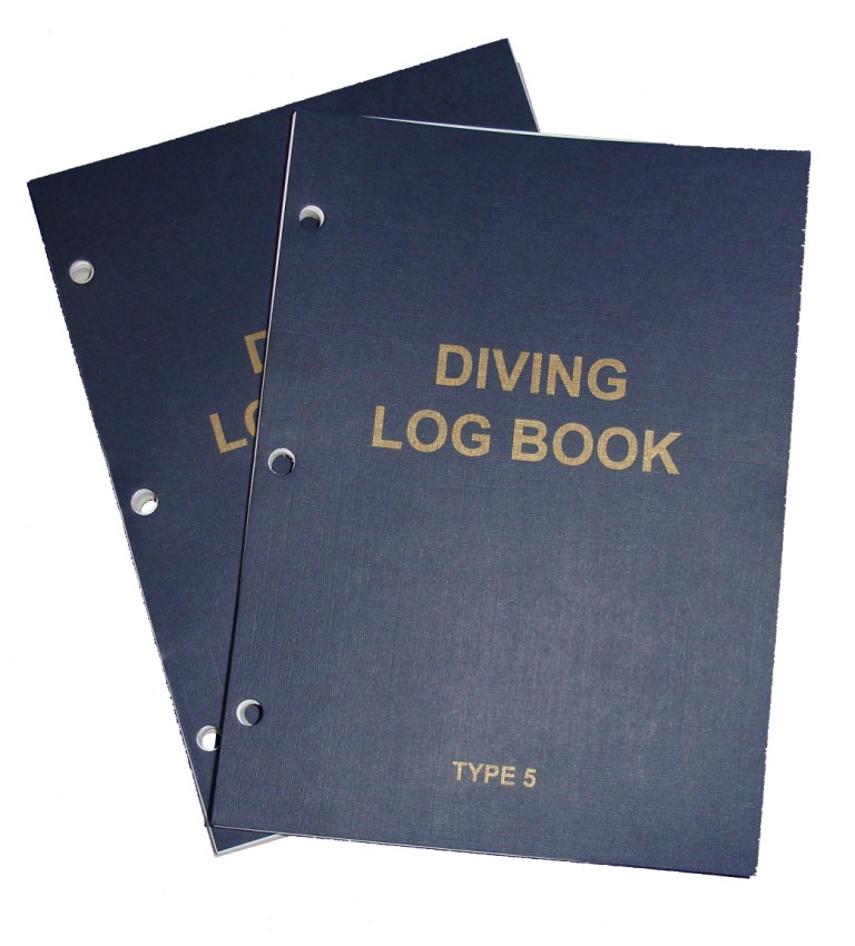 PDC 10 BOOK LOGBOOK DIVING TYPE 5 INSERTS